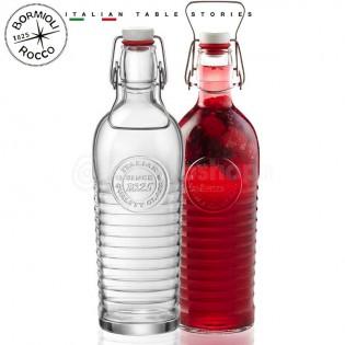 Bouteille Collector en verre de 1,2 litre destinée à recevoir de l'eau pétillante. bouchon hermétique garanti.